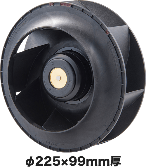 薄型ACDC ターボファンモーター
